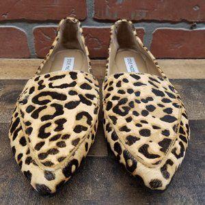 Steve Madden Genuine Calf Hair Leopard Loafer Flat